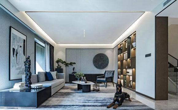 效果不错的别野装修设计,很大气新中式风格空间,难得一见!