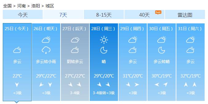 未来三天 河南东部南部局地有暴雨或大暴雨